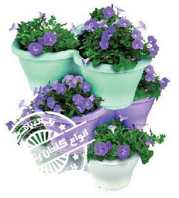 گلدان پلاستیکی طبقاتی
